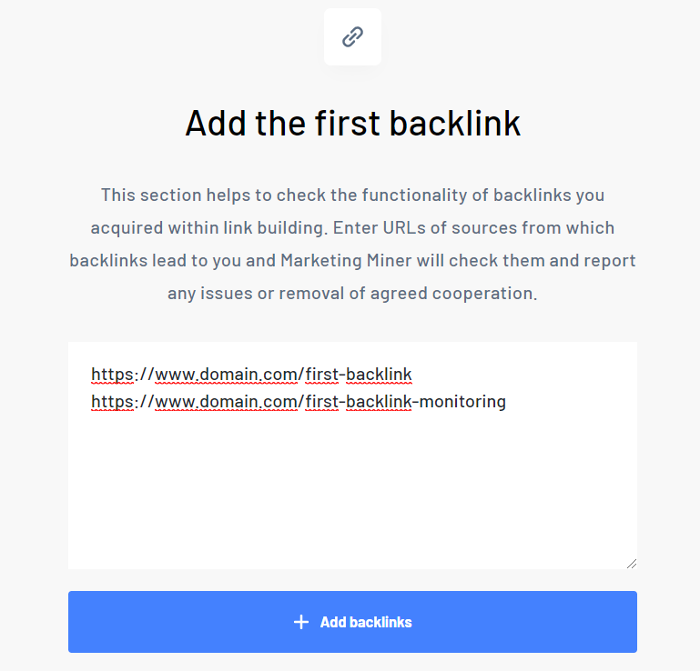 Add first backlink