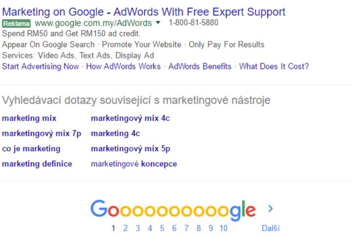 AdWords bottom SERP feature extra