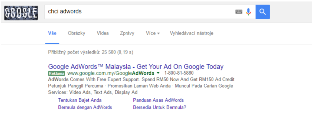 AdWords top feature