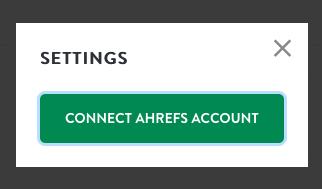 Connect Ahrefs account