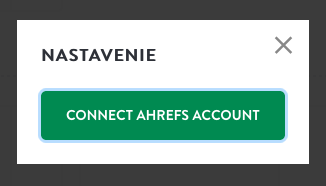 Connect Ahrefs account to Marketing Miner