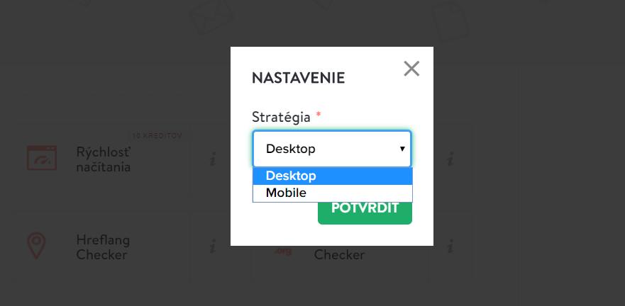 Desktop rýchlosť načítania