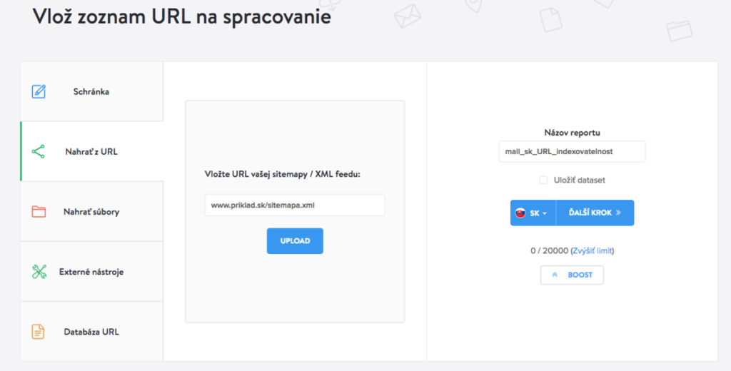 Kontrola plagiátorstva vloženie sitemapy URL