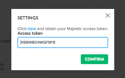 Majestic access token