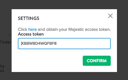 Majestic access token