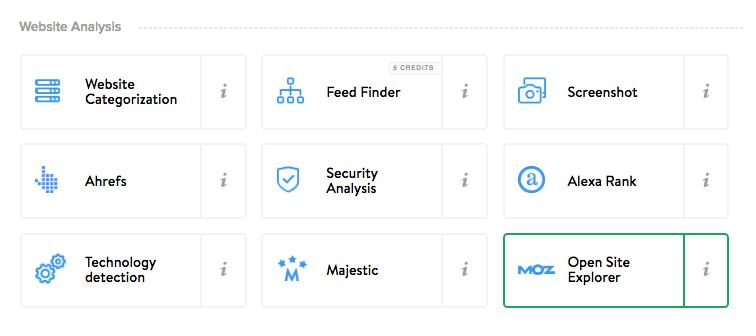 Open Site Explorer domain miner