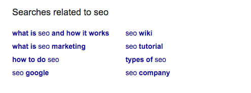 related search suggestions example