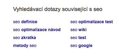 Related search ukázka Google