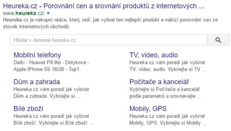 Search Box - Heureka example
