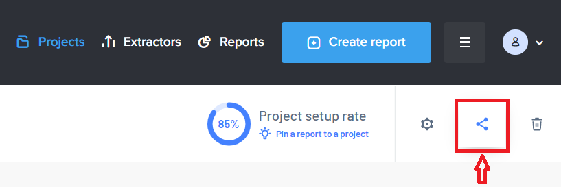 Share the project button