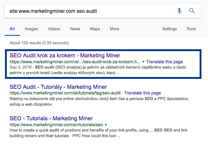 Site: landing page miner
