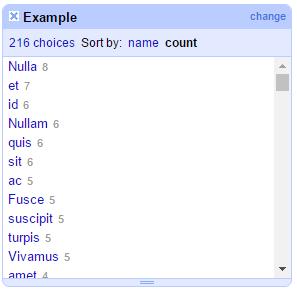 Text-length Open Refine facet