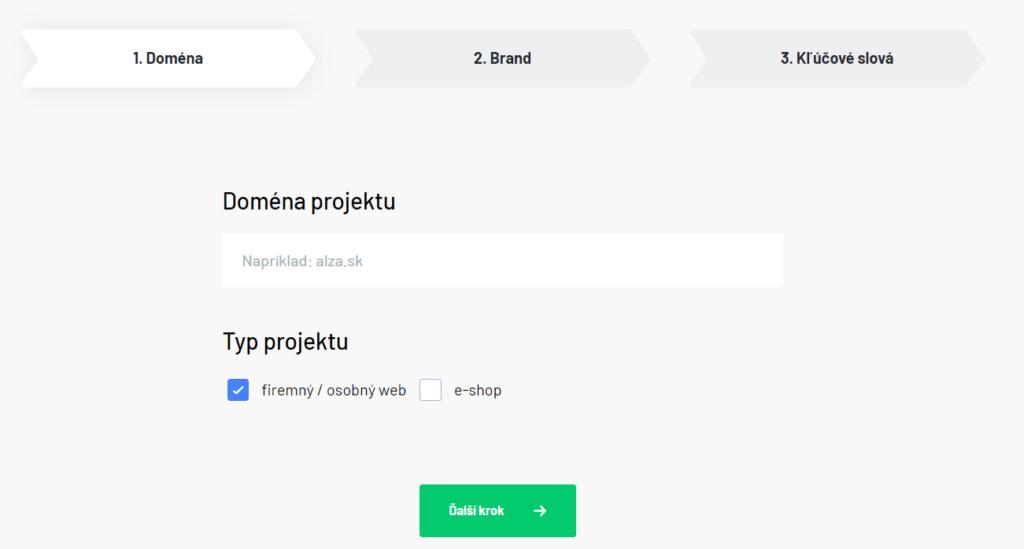 Zadanie domény projektu