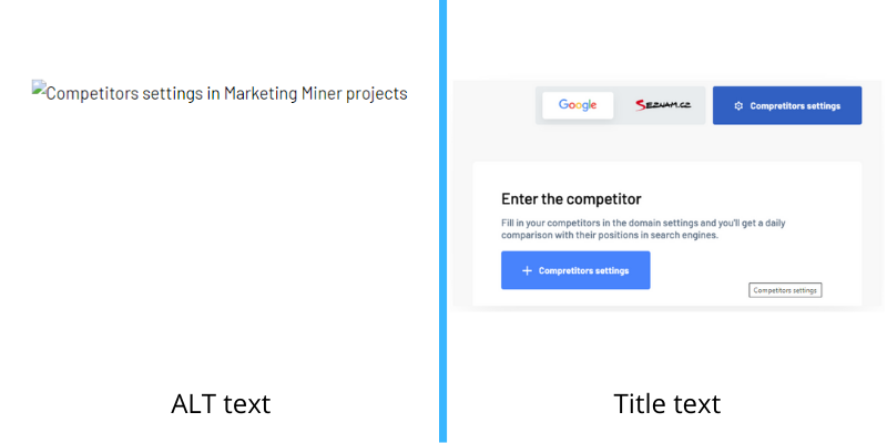 ALT text vs title text difference example
