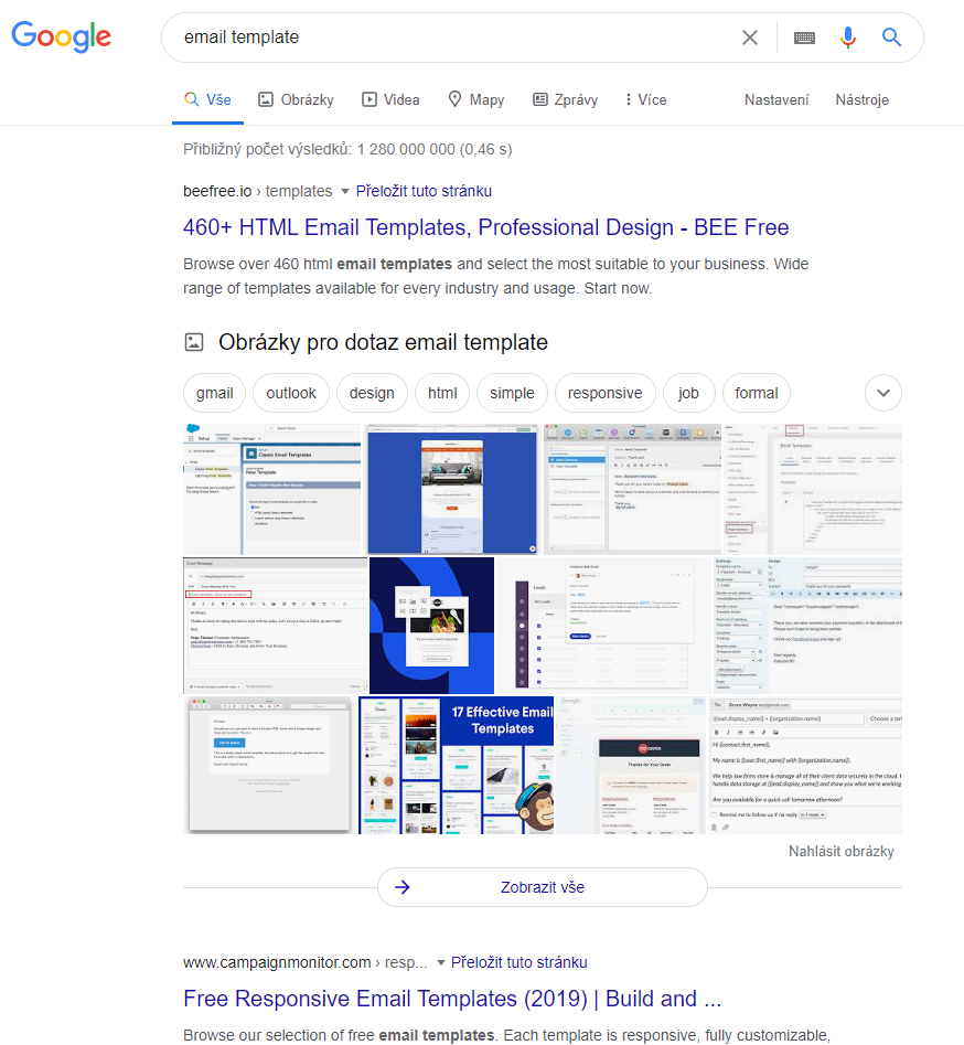 Ukázka images box ve fulltextovém vyhledávání