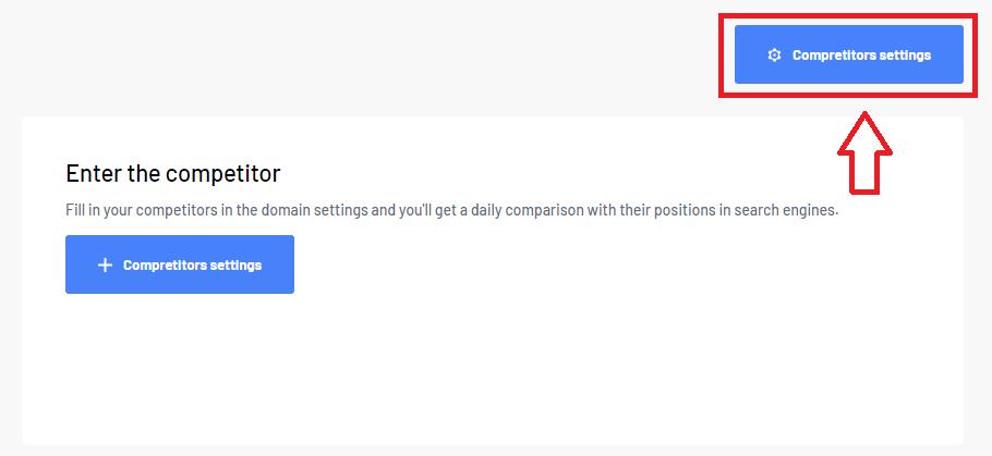 Competitors settings