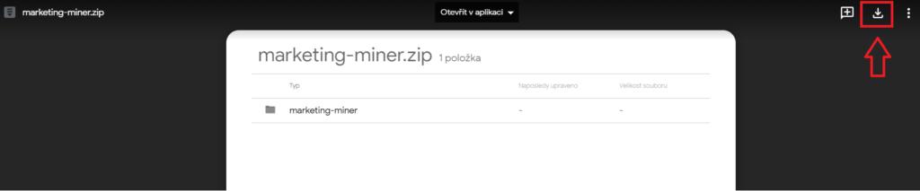 Ako stiahnuť Marketing Miner wordpress plugin .zip