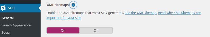 WordPress YoastSEO XML sitemap